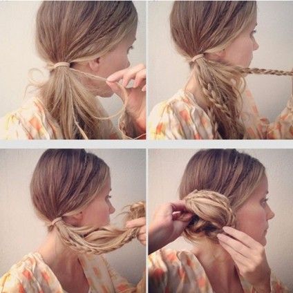 Side-Chignon-Tutorials-Micro-Braids-Updos-for-Girls