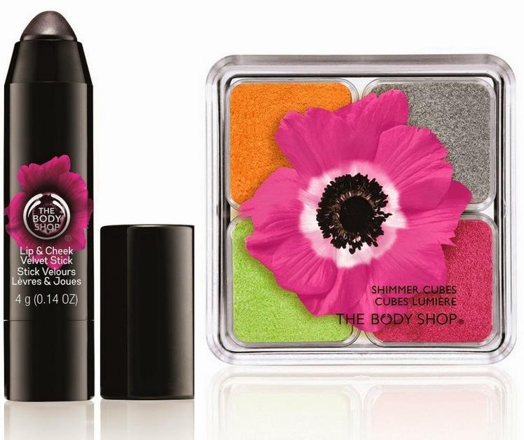 The Body Shop Poppy Lip Cheek Velvet Shimmer Cube Spring 2015