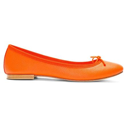 1926-Repetto-Women-s-Orange-Leather-Cendrillon-Flats-1